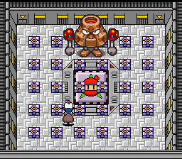 Super Bomberman 3 - Battle  - Boss #2 a angry volanco  - User Screenshot